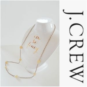 J. CREW LONG GOLD AND BAUBLE NECKLACE